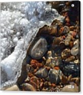 Light On Rocks And Ice  Acrylic Print
