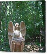 Light On The Angel In My Backyard Acrylic Print