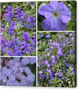 Light Purple Flowers Collage Acrylic Print