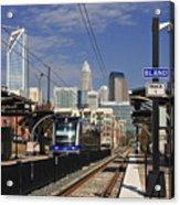 Light Rail In Charlotte Acrylic Print