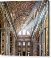Light Rays In St Peter's, Rome Acrylic Print