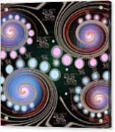 Light Rotate On Spiral Orbit Acrylic Print
