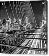 Light Trails Of Manhattan Acrylic Print