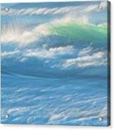 Light Wave at Asilomar, Pacific Grove, California Acrylic Print