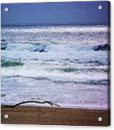 Light Waves To Sand Acrylic Print