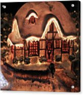 Lighted Christmas House  Acrylic Print
