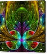 Lighted Flower Fractal Acrylic Print