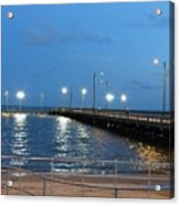 Lighted Pier Acrylic Print
