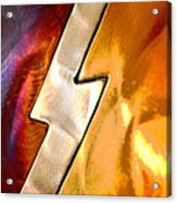 Lightening Bolt Abstract Posterized Acrylic Print