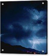 Lightening Cache Valley Utah Acrylic Print