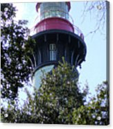 Lighthouse Among The Live Oaks Acrylic Print