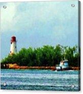 Lighthouse And Boat Nassau Bahamas Acrylic Print