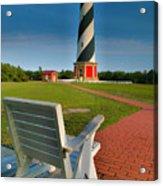 Lighthouse And Chair Acrylic Print
