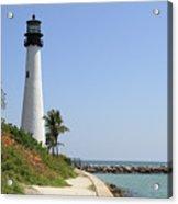 Lighthouse At Key Biscayne Florida  Acrylic Print