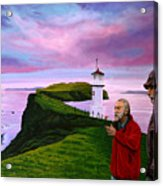 Lighthouse At Mykines Faroe Islands Acrylic Print