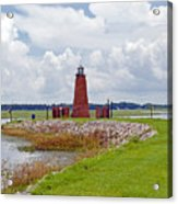Lighthouse At Port Kissimmee On Lake Tohopekaliga In Central Florida   Acrylic Print
