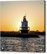 Lighthouse At Sunset Acrylic Print