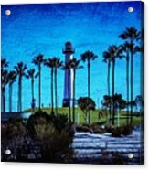 Lighthouse, Blue Lb Acrylic Print