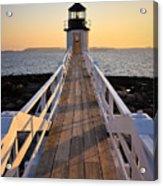 Lighthouse Boardwalk Acrylic Print by Benjamin Williamson