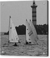 Lighthouse Boats Acrylic Print