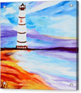 Lighthouse By The Sea Acrylic Print
