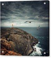 Lighthouse Cliff Acrylic Print
