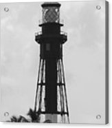 Lighthouse In Black And White Acrylic Print