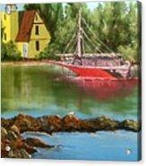 Lighthouse In Maine Acrylic Print