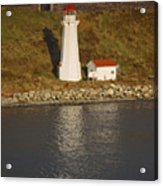 Lighthouse In Maine Acrylic Print
