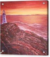 Lighthouse In Newfoundland Acrylic Print