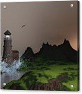 Lighthouse Landscape By John Junek Fine Art Prints And Posters Acrylic Print
