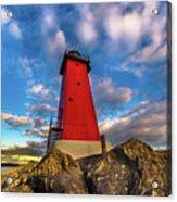 Lighthouse Manistique Sunset -5350 Acrylic Print