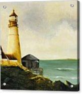 Lighthouse In Oil Acrylic Print