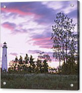 Lighthouse On A Landscape, Tawas Point Acrylic Print