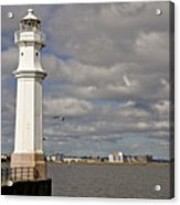Lighthouse On A Sunny Day. Acrylic Print