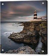 Lighthouse On Cliffs Acrylic Print