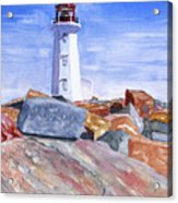 Lighthouse Peggys Cove Acrylic Print