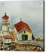 Lighthouse Point Reyes California Acrylic Print