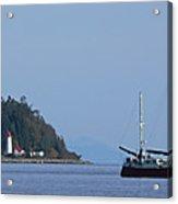 Lighthouse Sailing Vancouver Island Bc Acrylic Print