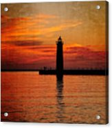 Lighthouse Silhouette  Acrylic Print