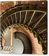 Lighthouse Stairs Cape Blanco Oregon 2 Acrylic Print