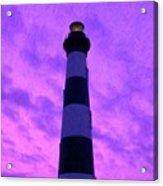 Lighthouse Sunset - Digital Art Acrylic Print