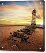 Lighthouse Sunset Wales Acrylic Print