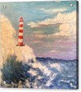 Lighthouse Under Lavender Sky Acrylic Print
