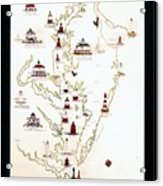 Lighthouses Of The Chesapeake Bay Acrylic Print