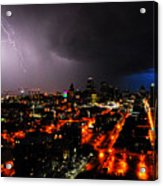 Lighting Over Kansas City Acrylic Print