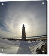 Lighting Your Winter Halo Acrylic Print