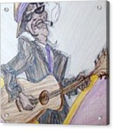 Lightnin Hopkins Blues Sketch Acrylic Print