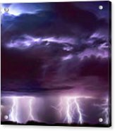Lightning Above And Below Acrylic Print