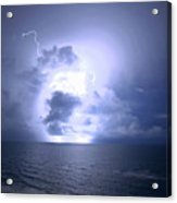 Lightning And Clouds Acrylic Print